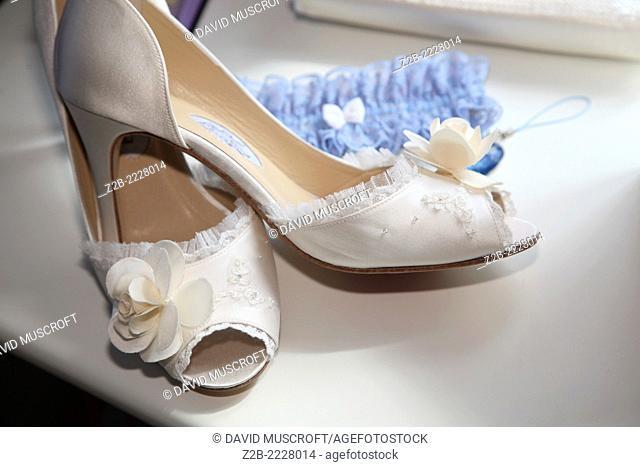 Wedding shoes close up