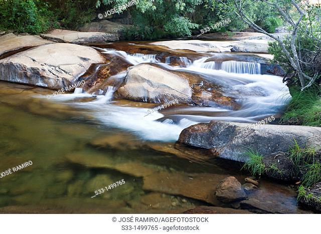 Manzanares river in La Pedriza  Sierra de Guadarrama  Manzanares el Real  Madrid  Spain