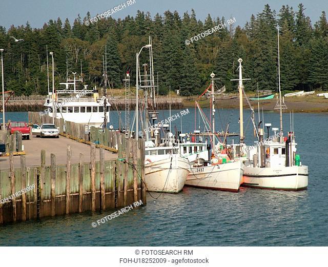 Canada, New Brunswick, Passamaquoddy Bay, Deer Island, fishing boats