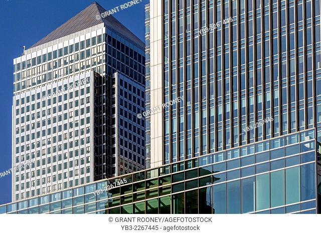 One Canada Square and Canary Wharf Business District, London, England