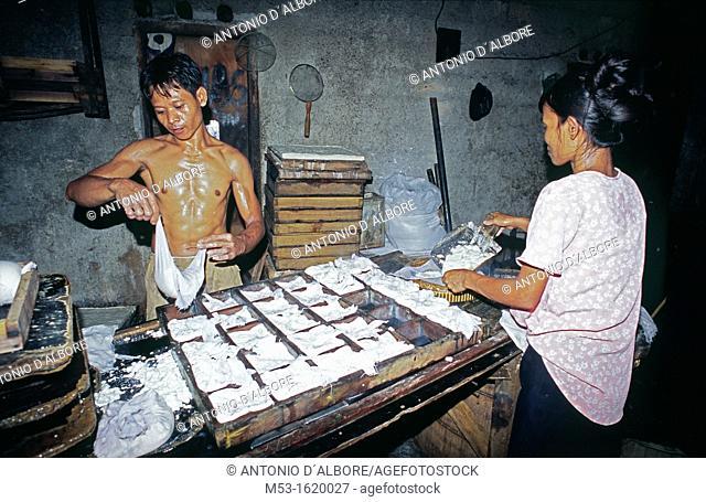 Tofu factory workers  Kuningan District  Jakarta  Indonesia