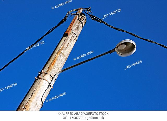 lamppost, Vallgorguina, Catalonia, Spain
