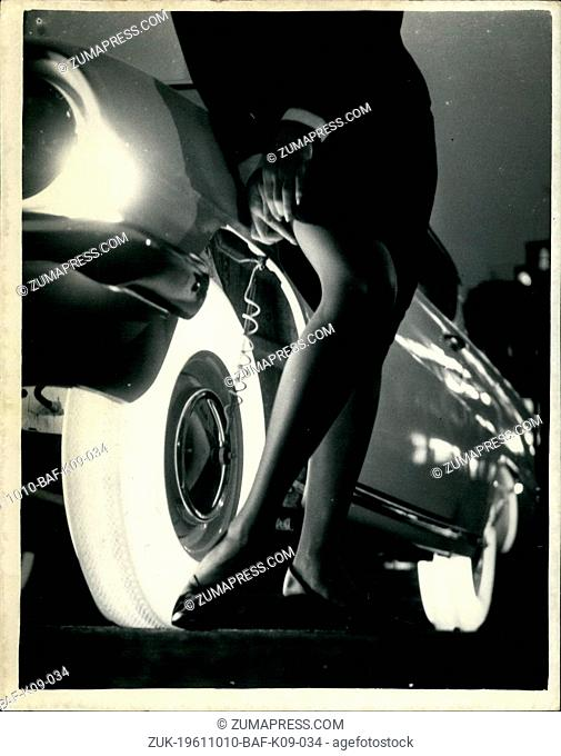 Oct. 10, 1961 - Rubber Company Produces 'Illuminated' Tyres: The Goodyear Tyre Company this afternoon in London showed its newest tyre
