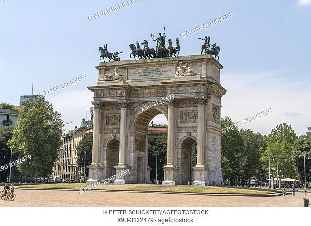 Triumphbogen Arco della Pace, Mailand, Lombardei, Italien | Triumphal Arch Arco della Pace, Milan, Lombardy, Italy, Europe