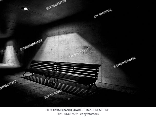 Lonely Bench by Night