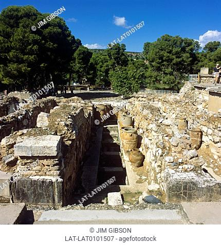 Knossos is the largest Bronze Age archaeological site on Crete and was probably the ceremonial and political center of the Minoan civilization and culture