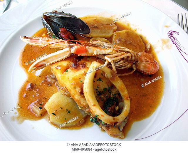 Suquet de peix , Palamós, Costa Brava. Catalunya. Spain