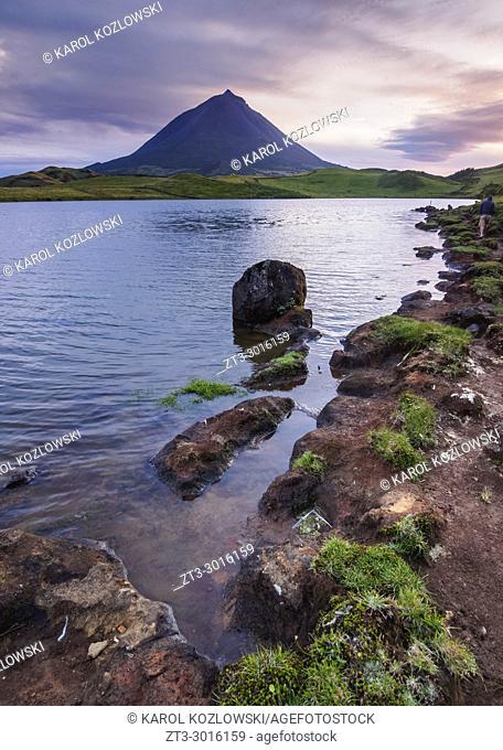 Lagoa do Capitao and Pico Mountain, Pico Island, Azores, Portugal
