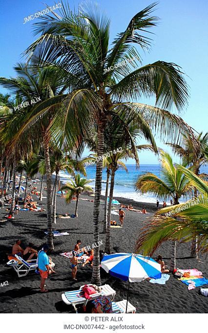 Spain, Canary islands, La Palma, Puerto Naos, beach