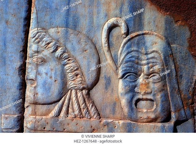 Roman comic masks, Sabratha, Libya, c161-c192 AD
