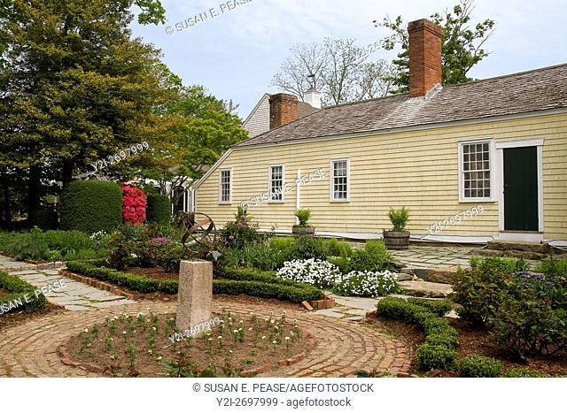 Gardens at the Museums on the Green, Falmouth, Cape Cod, Massachsuetts, United States, North America