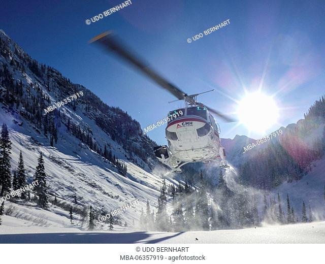 Canada, Canadian Rocky Mountains, British Columbia (BC), Revelstoke, CMH-Heliskiing in the Revelstoke Mountain Resort Selkirks and Monashees