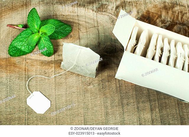 Box with tea bags