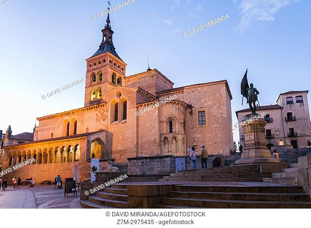 Iglesia de San Martín. Segovia. Castilla León. España. Ciudad patrimonio de la humanidad. Unesco