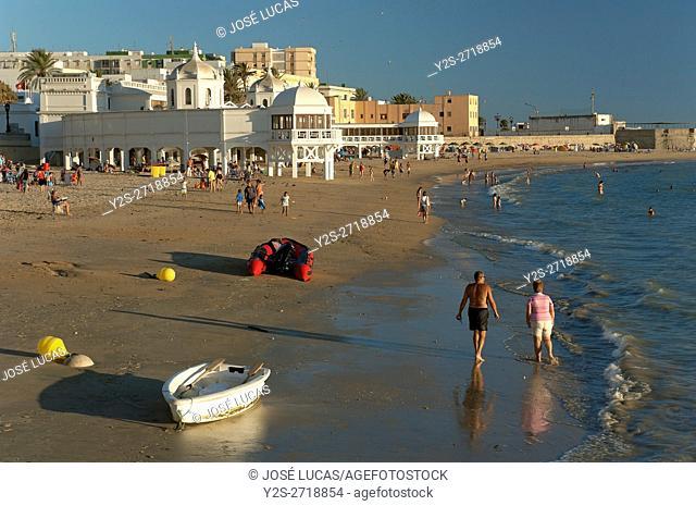 La Caleta beach and old spa, Cadiz, Region of Andalusia, Spain, Europe
