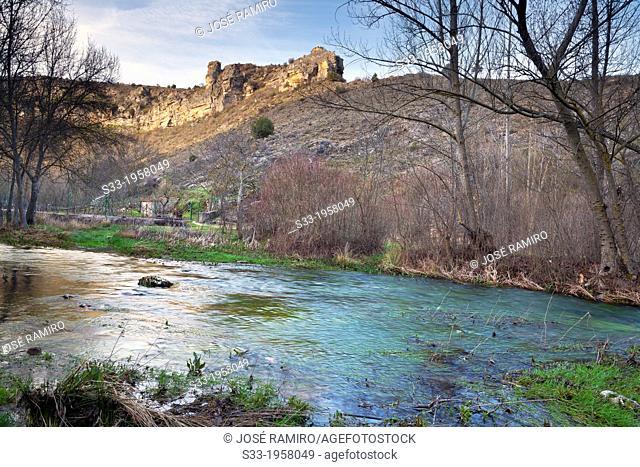 Dulce river in Pelegrina. Guadalajara. Castilla la Mancha. Spain
