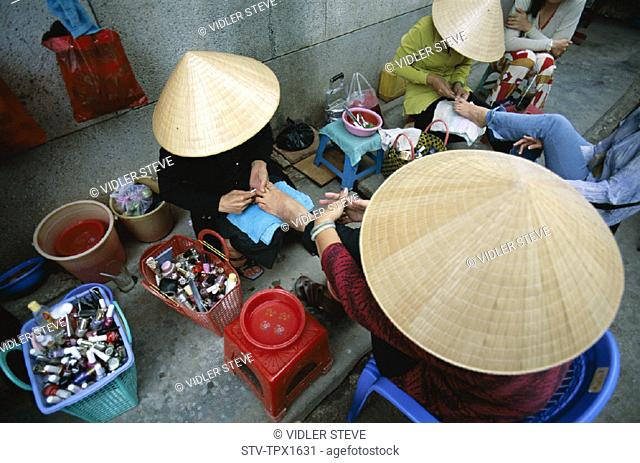 Asia, Cantho, Conicle, Hats, Holiday, Landmark, Manicures, Mekong delta, Pedicures, Tourism, Traditional, Travel, Vacation, Viet
