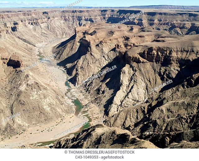 Namibia - The Fish River Canyon is with a length of 160 km the second largest canyon in the world and the largest in Africa  Ai-Ais Richtersfeld Transfrontier...