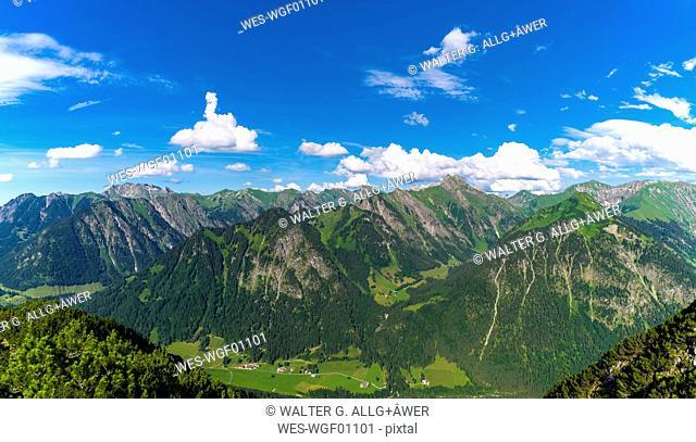 Germany, Bavaria, Allgaeu, view from Himmelschrofen