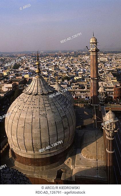 View from Jama Masjid Mosque on New Delhi India New Dehli