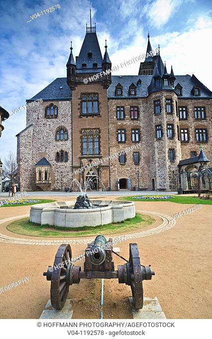 The castle of Wernigerode, Harz, Saxony-Anhalt, Germany, Europe