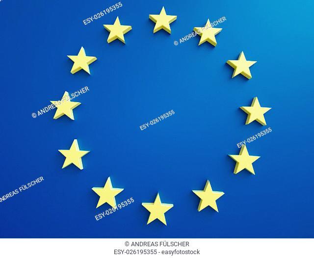 EU stars on a blue background