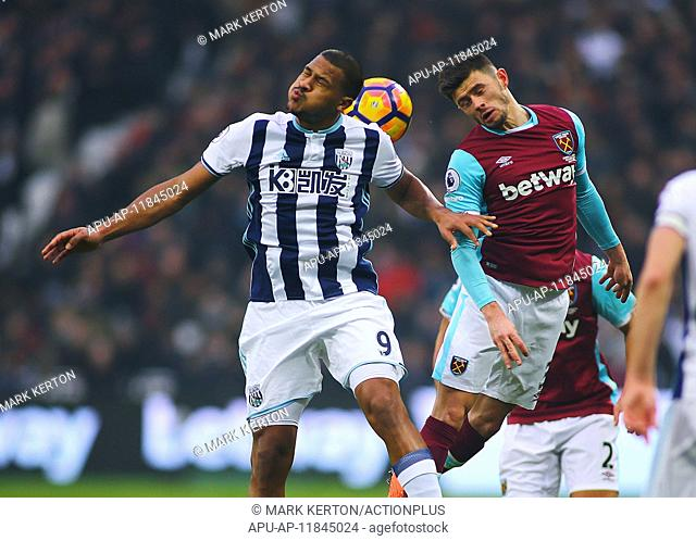 2017 Premiership Football West Ham United v WBA Feb 11th. February 11th 2017, London Stadium, London, England, Premier League football