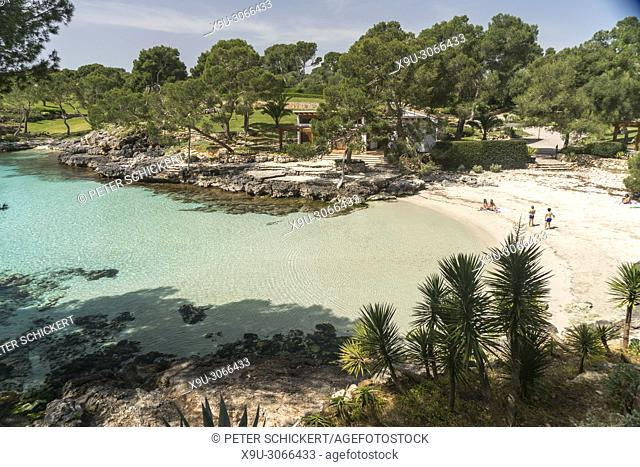 Cala Mitjana, Felanitx, Majorca, Balearic Islands, Spain