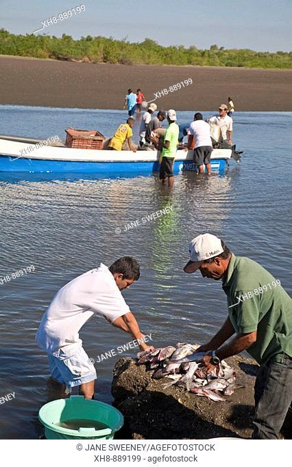 Fishermen, Poneloya beach, Leon, Nicaragua