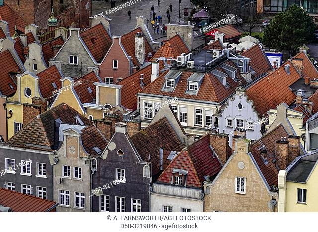 Gdansk, Poland The view over the city from the St. Mary's Church rooftop terrace, a popular tourist attraction