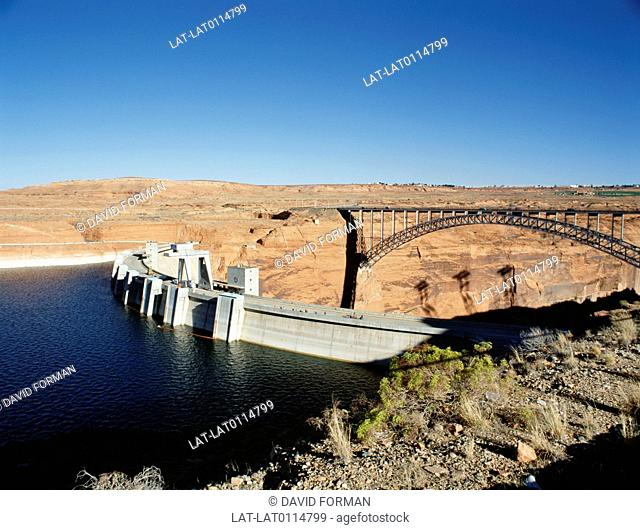 The Hoover Dam was completed in 1935,and was then the largest concrete structure in the world,and also the largest electric power producing facility