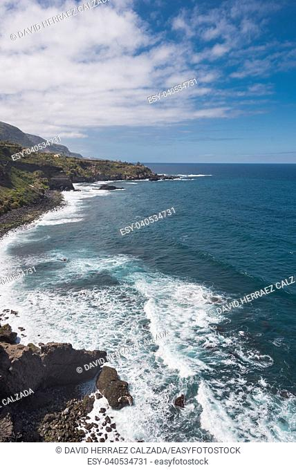 Landscape of north Tenerife island coastline, Canary islands, Spain