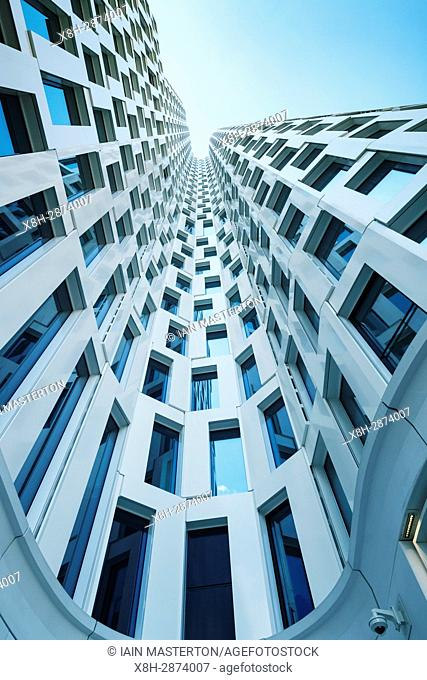 View of architecture of new Upper West commercial and hotel building in Charlottenburg Berlin, Germany