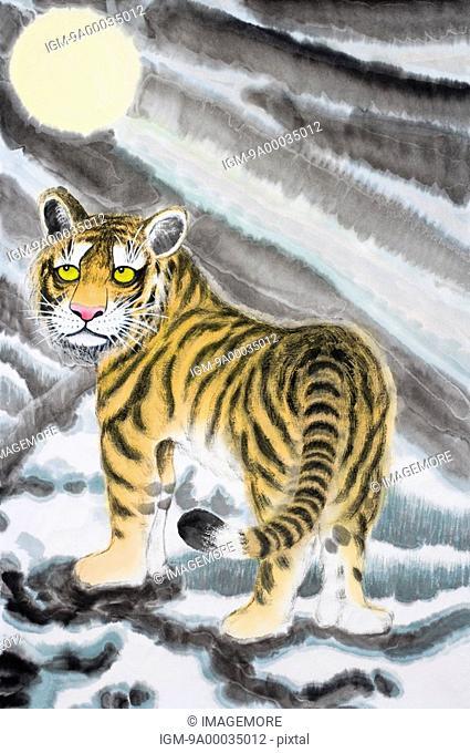 Chinese Fine art, Traditional Chinese Painting, Year Of The Tiger