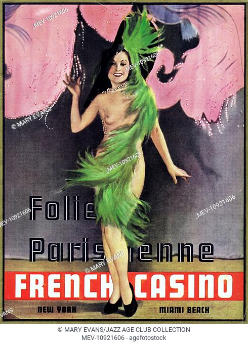 Programme cover for Folie Parisienne at the French Casino, New York and Miami Beach, 1935-36