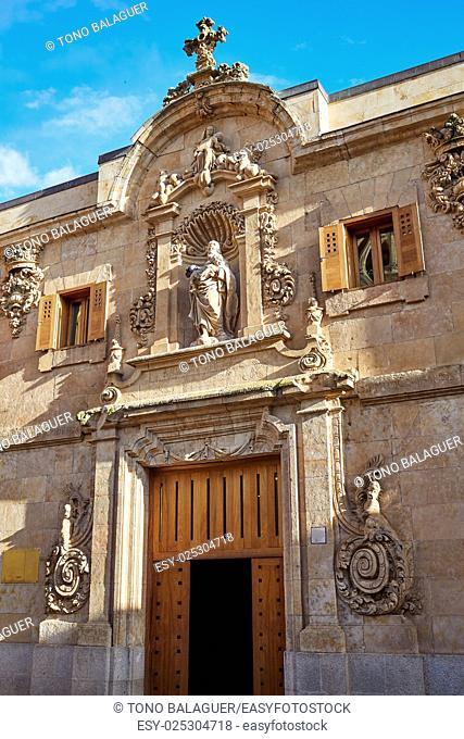 Civil war archive in Salamanca facade of Spain