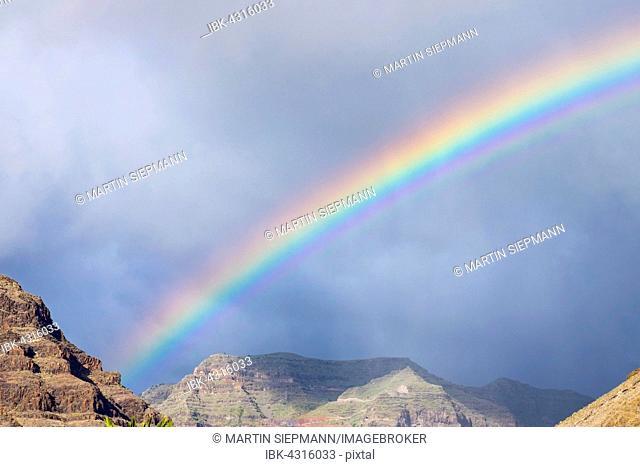 Rainbow, Valle Gran Rey, La Gomera, Canary Islands, Spain