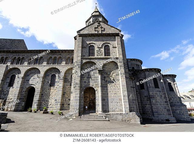 Romanesque church Notre-Dame dOrcival, Orcival, Puy de Dome, Auvergne, France, Europe