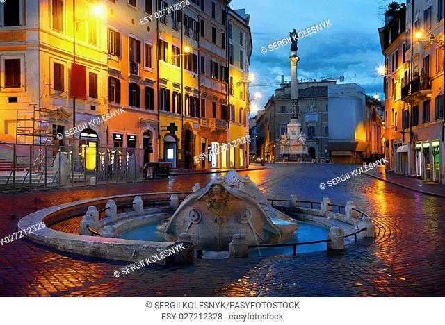 View on Piazza di Spagna in Rome, Italy
