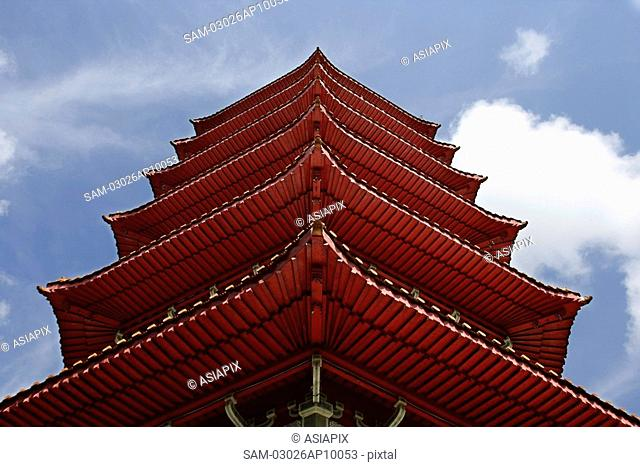 Close up of pagoda roof