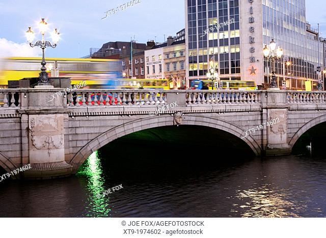 view of the oconnell bridge over the river liffey dublin republic of ireland