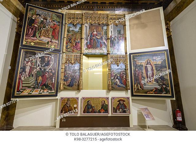 retablo de Santa Catalina, Francisco Gallego, siglo XV, oleo sobre tabla, Museo Diocesano de Salamanca, Catedral Vieja, Salamanca