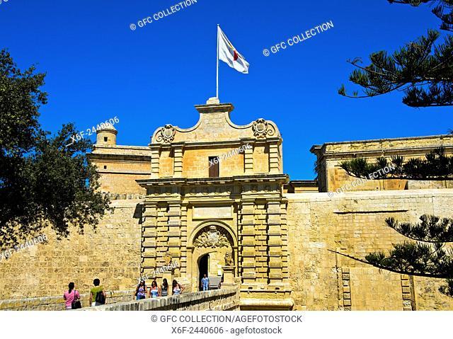 City Gate of Malta, also Città Vecchia or Città Notabile, Malta