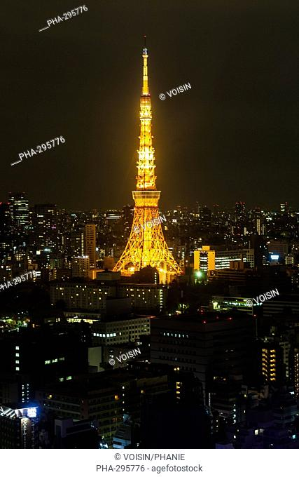 Tokyo tower by night, Japon