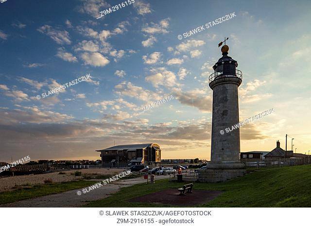 Kingston Lighthouse in Shoreham-by-Sea, West Sussex, England