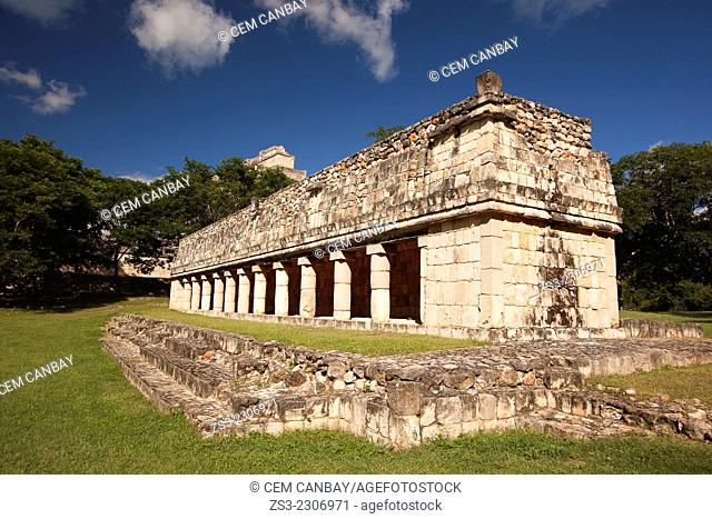House Of The Birds in prehispanic Mayan city of Uxmal Archaeological Site, Yucatan Province, Mexico, North America