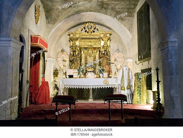 The chapel of the manor Camino d els Calderers d San Juan, Majorca, Balearic Islands, Spain