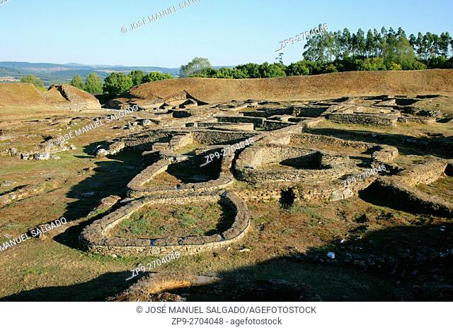 """View of the """"""""Castro de Viladonga"""""""", an Iron Age Hill Fort, in Galicia, Spain"""