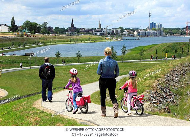 Germany, Dortmund, Ruhr area, Westphalia, North Rhine-Westphalia, NRW, Dortmund-Hoerde, Phoenix-See, Phoenix lake, artificial lake