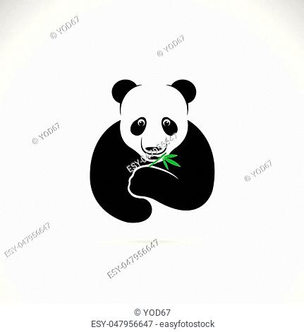 Vector of a panda design on a white background. Wild Animals
